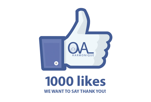 Facebook: 1000 likes! We would like to say thank you