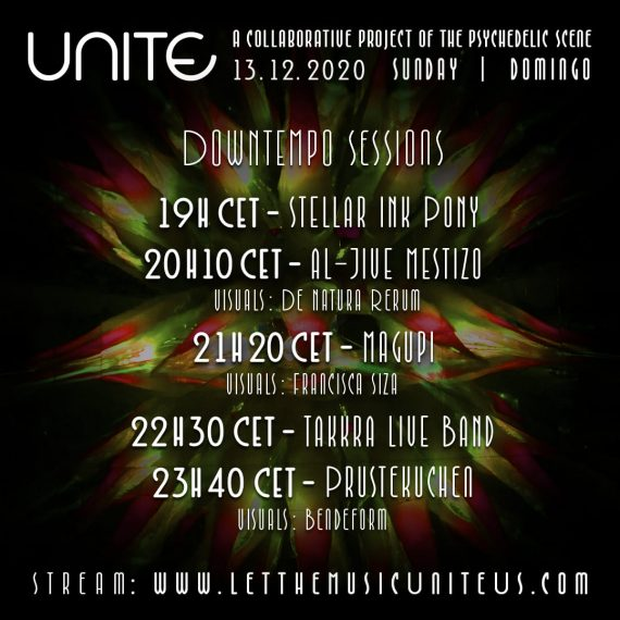 Flyer - Stellar Ink Pony @ Unite - Downtempo Sessions (Online Stream 2020)